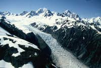Mount Cook on the right...