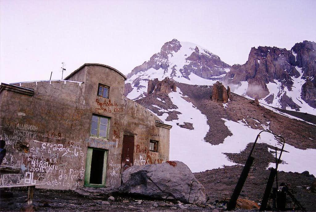 Mount Kazbek from the former met station