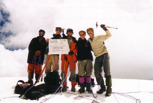 Summit photo. Hunza hats at...