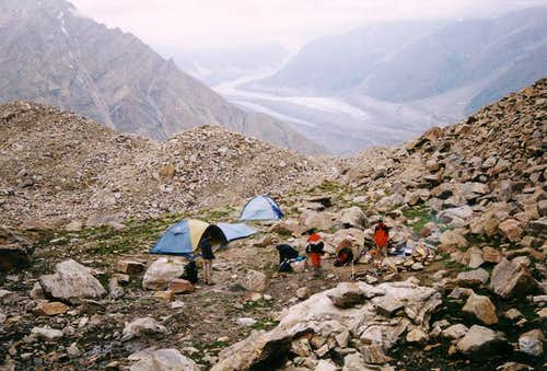 Rupal Peak's base camp is...