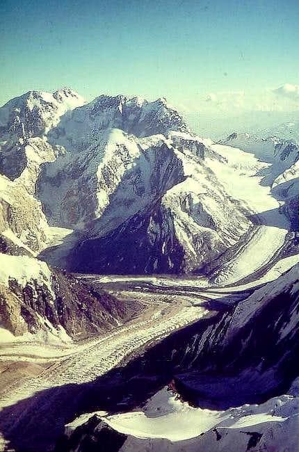 View down from Noshaq summit...