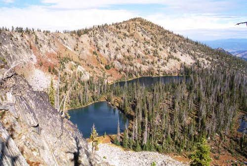 This is Twin Lakes Basin from...