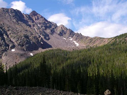 The North Ridge as seen from...