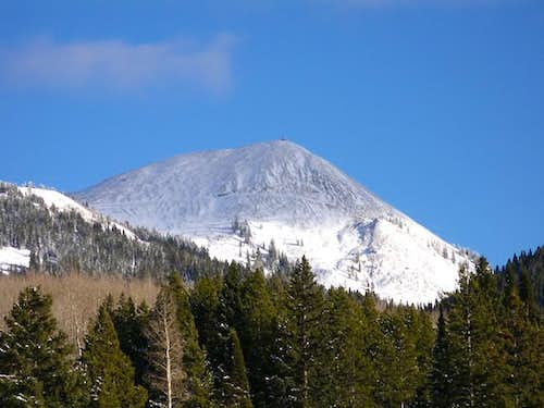 Hahns Peak as seen from the...