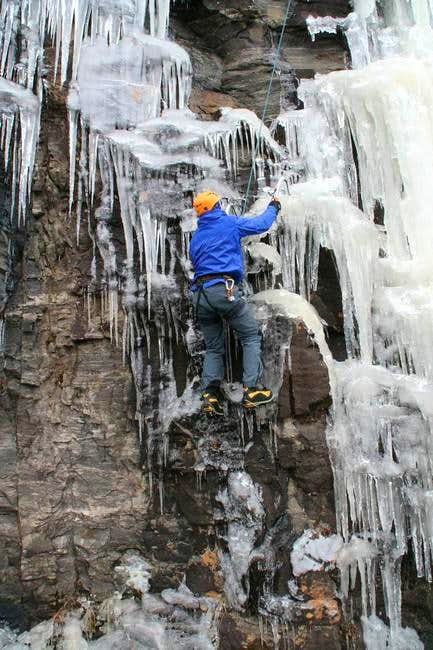 A little mixed ice at Hogpen...