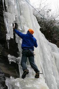 Sweet ice at Hogpen Gap, GA