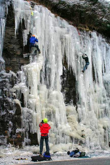 Ice at Hogpen Gap, GA