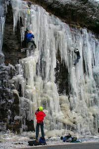 Ice at Hogpen Gap, GA