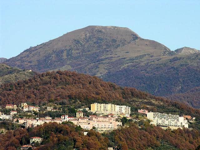 Far view of Monte Alpesisa...