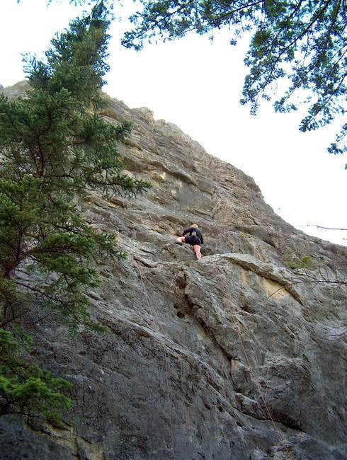 First Rock, 5.6-5.11c
