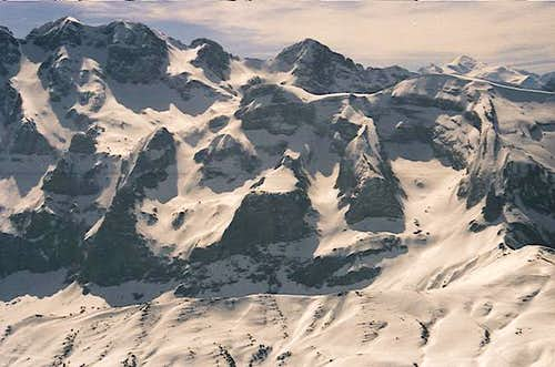 In the distance, above Tête...
