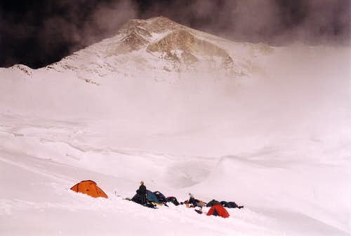 Camp at approximately 5600m