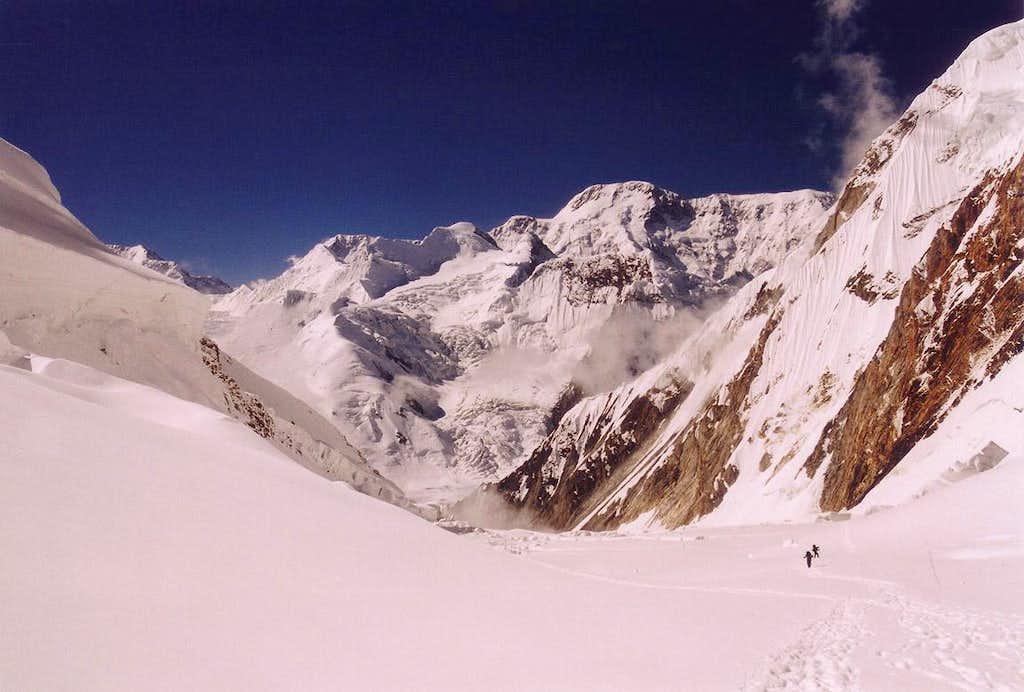 Climb to camp 3 on Khan Tengri