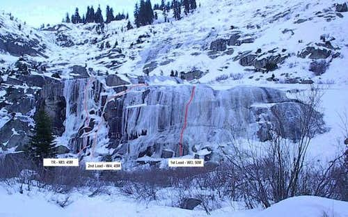 The Tokopah Icefall in very...