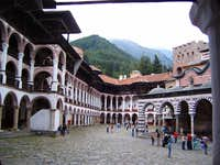 The Rila monastery, below Mt....