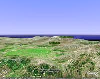 A rendition from google earth...
