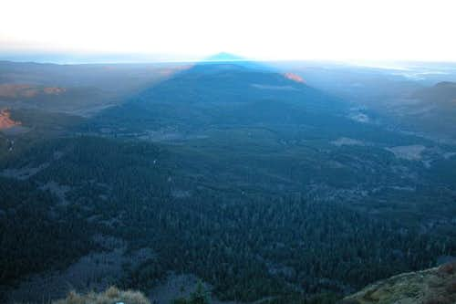The shadow of Saddle Mtn....
