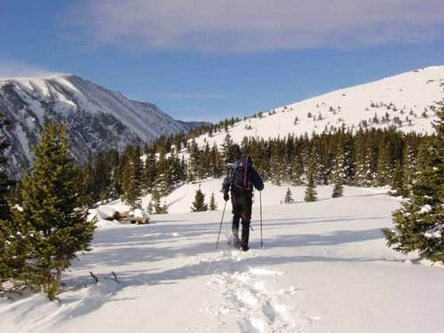 Snow shoe approach on...