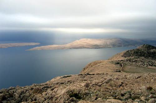 Sv. Vid on island Pag. View...