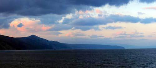 Sis mountain on island Cres....