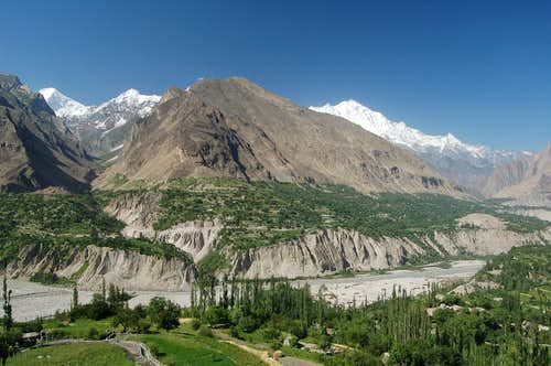 Hunza valley as viewed from...