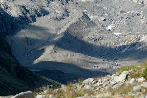 Etançons glacier old moraine