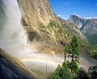Yosemite Falls and Half Dome