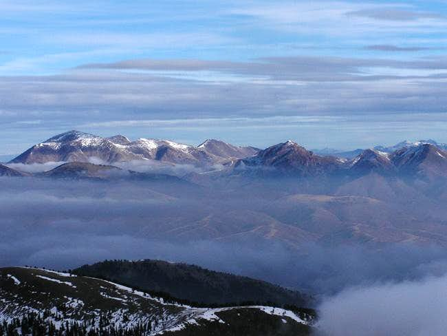 Garfield Mountain, left, Lima...