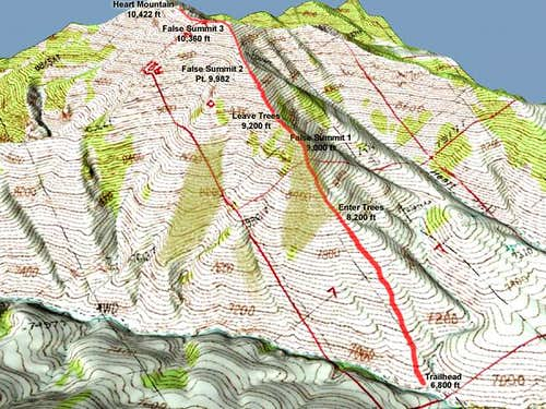 Map of the South Ridge of...