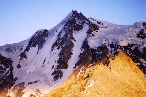Rupal Peak in the shadow of...