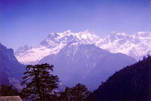 Distant view of Manaslu from...