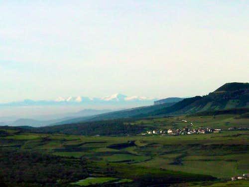 San Lorenzo from the peak...