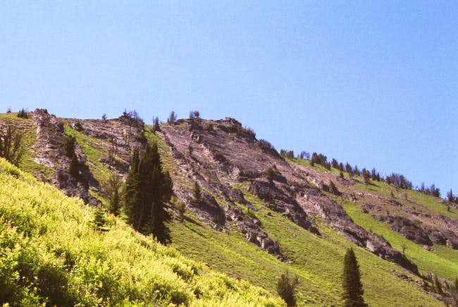Part of the east slope from...