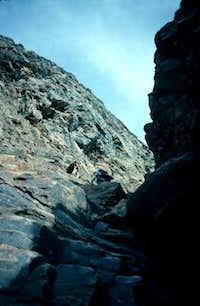 Cliimbing rock in the...