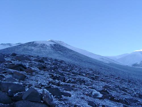Climbing the north ridge of...