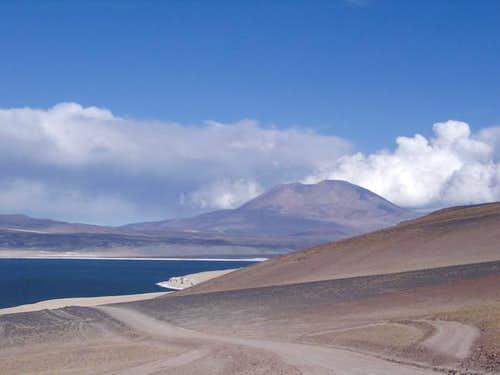 Reaching Laguna Verde, in the...