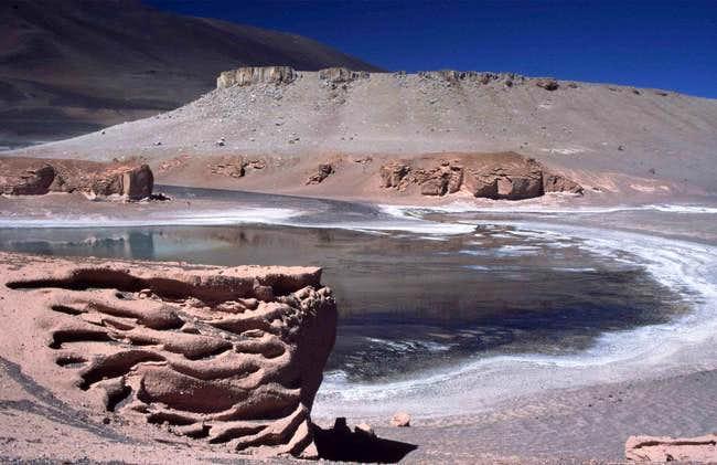 Erosions at Laguna Verde.