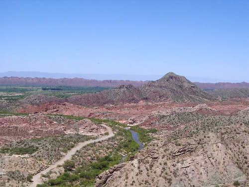 Colourful desert-like...