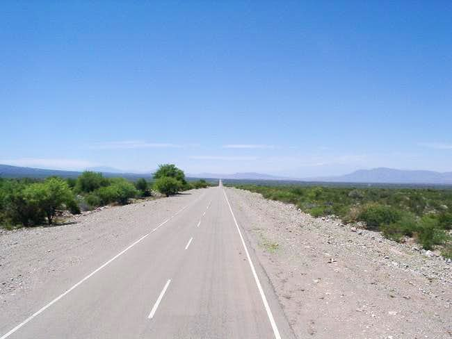 On the straight road from San...