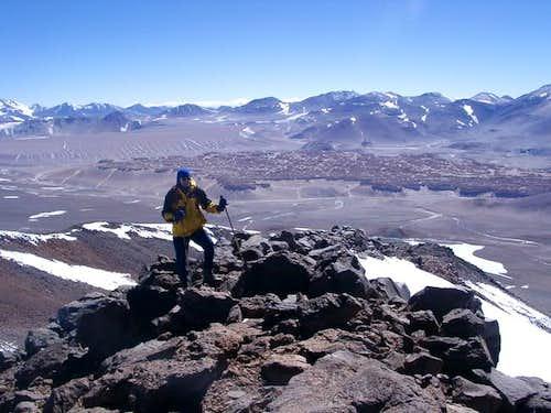 On the northeast ridge of...