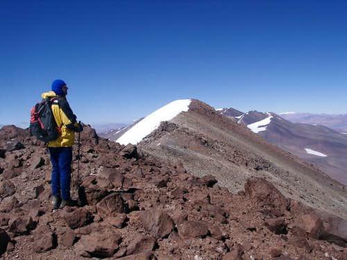 Reaching the summit of Cerro...