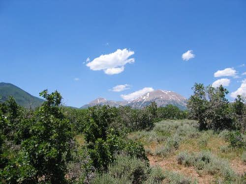 Mt. Peale as seen from the...