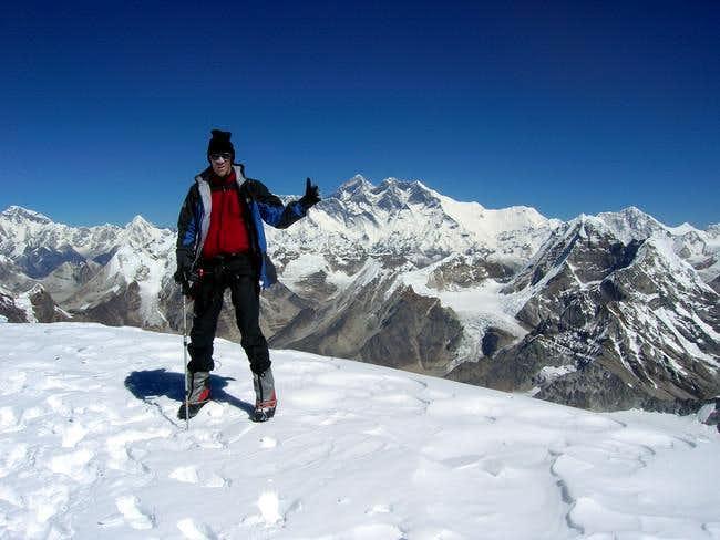 Summit of Mera Peak, October...