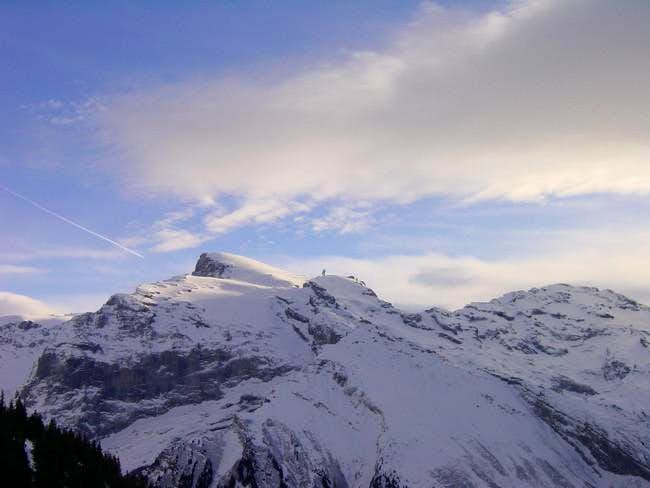 North face of theTitlis in...