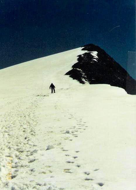 Me, ascending the west ridge....