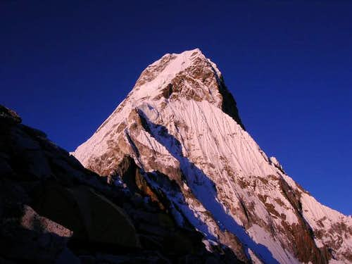 Ama Dablam as seen from C1 at...