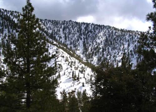 Avalanche Canyon is on the...