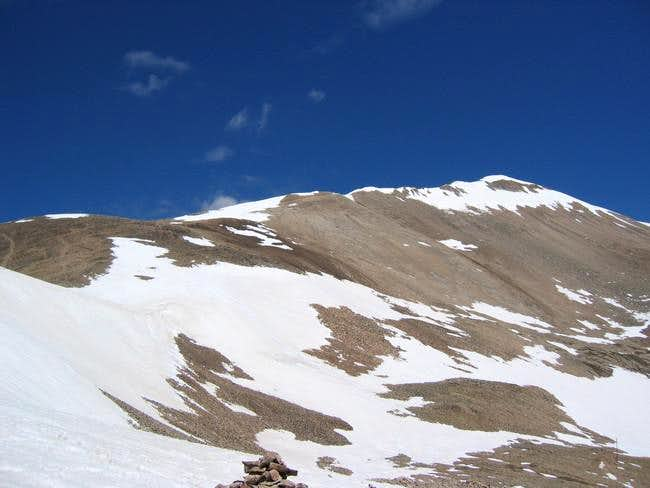 Beautiful blue sky on Mt....