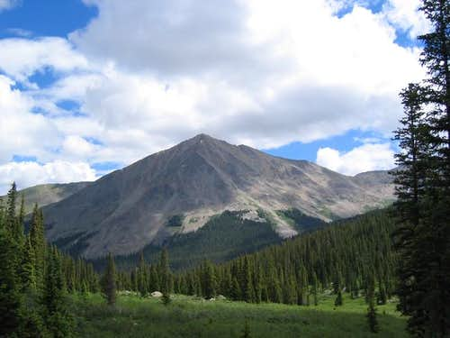 Huron Peak from WSW on the...