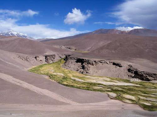 The Río Lamas with Cerro Tres...